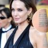 Что означают татуировки на левом плече анжелины джоли