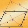 Как найти диагональ параллелограмма, если даны стороны