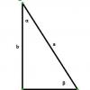 Как найти длину стороны прямоугольного треугольника