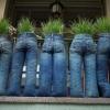 Как сделать кашпо из старых джинсов