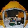 Как свернуть зимнюю палатку
