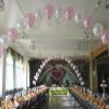 Как украсить зал воздушными шарами