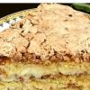 Торт с орехами и пудингом